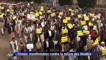 Yémen: manifestation contre la milice des Houthis à Sanaa