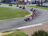 Départ de la préfinale rotax max de la course de club d'autoreille le 21_08_2010 (480p)