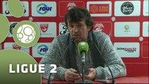 Conférence de presse Nîmes Olympique - FC Sochaux-Montbéliard (2-1) : José  PASQUALETTI (NIMES) - Olivier ECHOUAFNI (FCSM) - 2014/2015