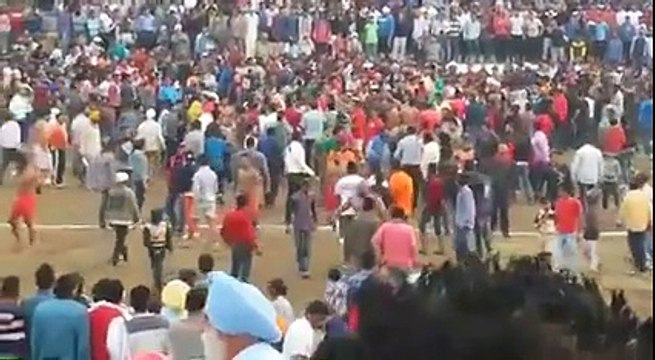 Fight Breaks out at Kabaddi Tournament