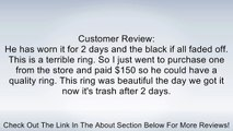 Tungsten Carbide Men's Unisex Ring Wedding Band 6mm Flat Top Two Tone Black Beveled Edge Comfort Fit Review