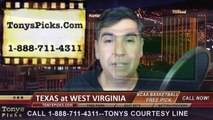 West Virginia Mountaineers vs. Texas Longhorns Free Pick Prediction NCAA College Basketball Odds Preview 2-24-2015