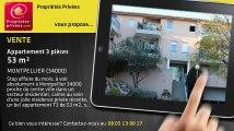 A vendre - appartement - MONTPELLIER (34000) - 3 pièces - 53m²