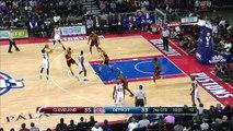 LeBron James And-One - Cavaliers vs Pistons - February 24, 2015 - NBA Season 2014-15