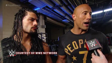 The Rock & Roman Reigns Post Royal Rumble Interview
