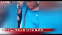 Etek altı sapığı kameraya yakalandı