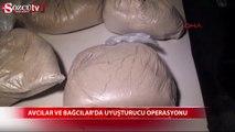 Avcılar ve Bağcılar'da uyuşturucu operasyonu