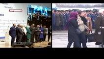 Bir tarafta şehitler için cenaze töreni, diğer yanda TÜRGEV'in açılış töreni!