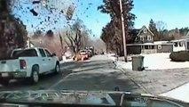 Police dashcam captures dramatic house explosion
