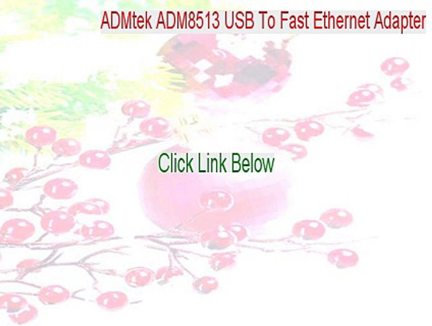 ADMTEK USB 2.0 TO ETHERNET DRIVERS FOR WINDOWS DOWNLOAD