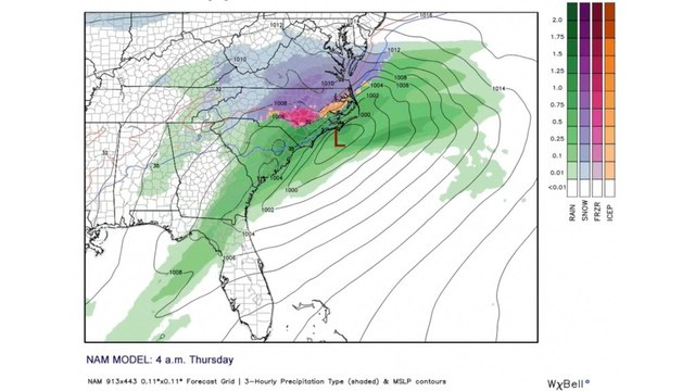 Snow forecast: Few inches likely Thursday
