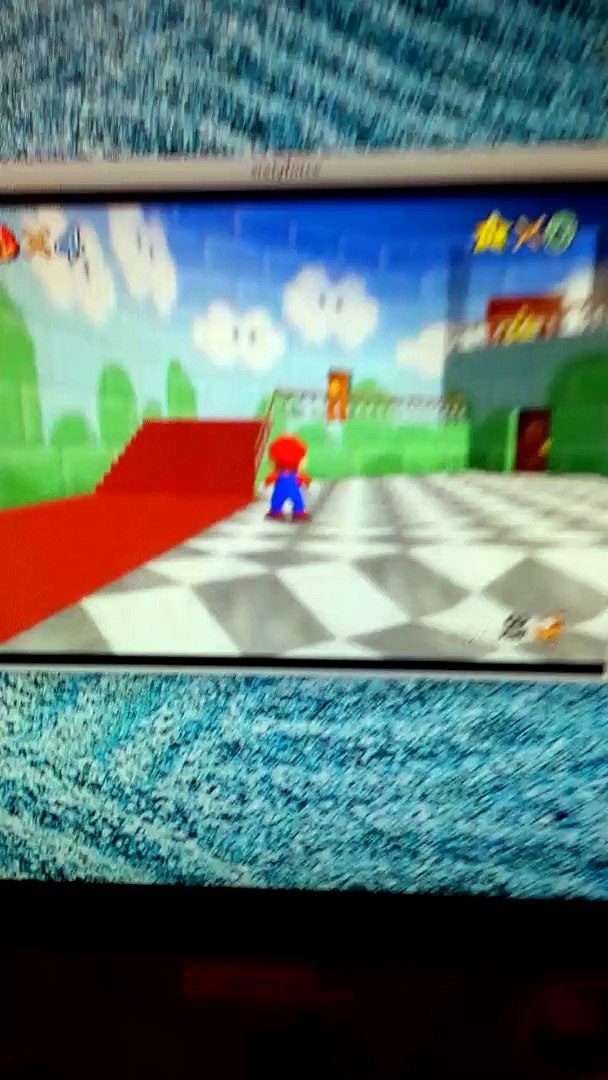 Super Mario 64 (1996) with the Real BETA HUD from 1994-1996