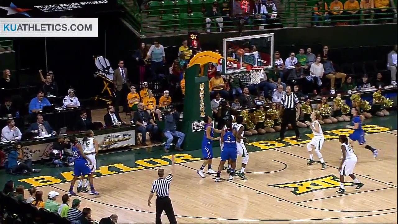 Kansas Fights in Loss to Baylor 66 – 58 // Kansas Women's Basketball // 2.1.15