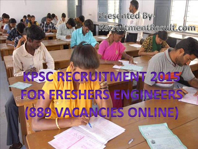 KPSC Recruitment 2015 For Freshers Engineers (889 Vacancies Online)