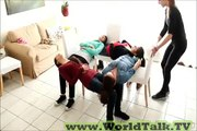 4 Chairs Trick by Girls -Tricky Play on 4 Chairs Really Amazing Girls - WOW MAZA