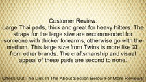 Twins Special Leather Thai Pads - Velcro - KPL-2 Blue/Black Muay Thai Kickboxing Pads Review
