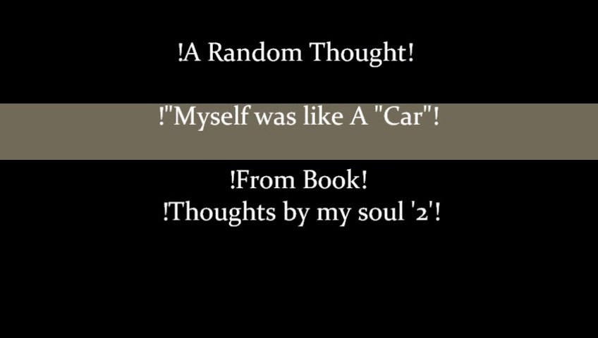 RT Myself was like A Car by Sweetnida