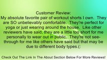 CC 2 Pack Nylon Spandex Tribal Pattern Fold Over Yoga Shorts Review