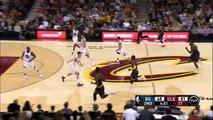 Klay Thompson Blocks Kyrie Irving - Warriors vs Cavaliers - February 26, 2015 - NBA Season 2014-15