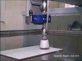 With a waterjet cutting machine, ceramic cutting video