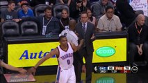 Russell Westbrook Didn't Acknowledge Kevin Durant's Handshake as He Walked to the Bench - NBA