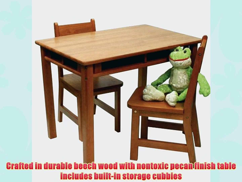 Lipper International Child S Rectangular Table And 2 Chair Set Pecan