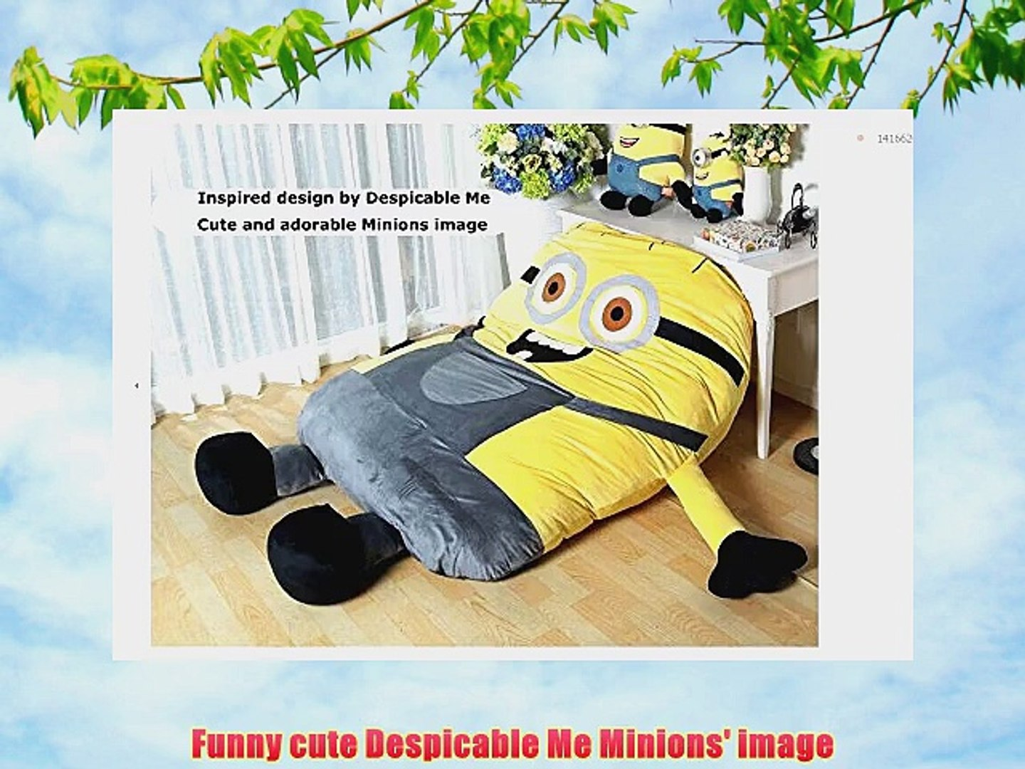 Terrific Funny Despicable Me Minions Sleeping Bag Sofa Bed Twin Bed Double Bed Mattress For Kidsship Caraccident5 Cool Chair Designs And Ideas Caraccident5Info