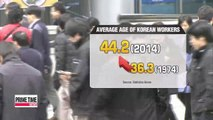 Average age of Korean workers rises to 44, raising concerns of a worker shortage