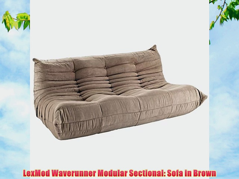 Miraculous Lexmod Waverunner Modular Sectional Sofa In Brown Video Evergreenethics Interior Chair Design Evergreenethicsorg