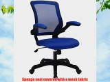 LexMod Veer Office Chair with Mesh Back and Mesh Fabric Seat Blue
