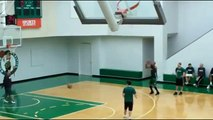 Ray Allen 3 Point Shooting Practice (17_18 missed only one)