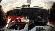 Citation V visual approach - cockpit view, live ATC! GoPro3.