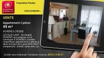 A vendre - appartement - ACHERES (78260) - 2 pièces - 49m²