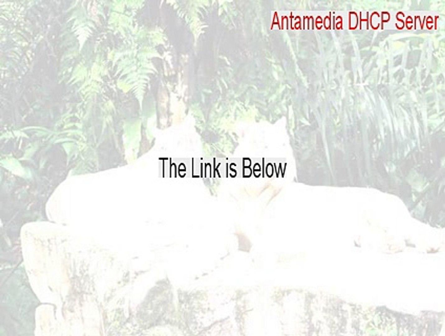 Antamedia DHCP Server Full Download [Download Now]