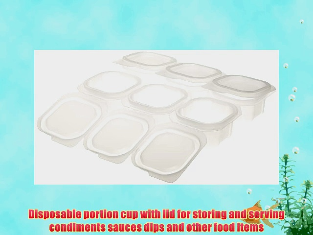Liddles 87220 Portion Cup with Attached Lid 4 oz Capacity Translucent (900 Cups and 900 Lids)