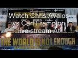 watch boxing match Chris Avalos vs Carl Frampton live