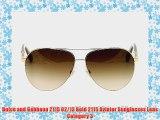 Dolce and Gabbana 2115 02/13 Gold 2115 Aviator Sunglasses Lens Category 3