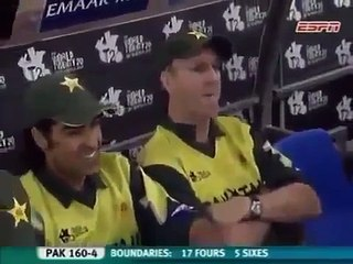 Misbah big hit for 111m sixer in world t20 2007 - (Amazing Cricket Videos)