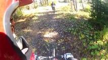 Accident de Mountain Bike après le sabotage d'une piste de VTT de descente