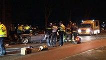 Drie gewonden bij frontale botsing in Stad - RTV Noord