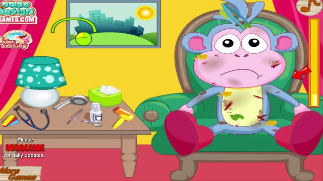 Dora caring Boots - Boots Accident Emergency Game - Dora the explorer caring Boots in hospital
