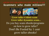 grow taller and height increase - grow taller 4 idiots .com  scam free ebook download.