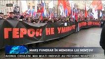 Marș funerar în memoria lui Nemțov cu peste 70.000 de ruși. Au condamnat asasinarea politicianului, un aprig critic al preşedintelui Vladimir Putin. În Rusia s-a ajuns la fascism și Rusia nu are nici un viitor, sunt de părere rușii.