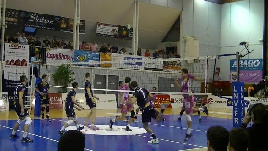 Balle de match Arago de Sète - Paris Volley