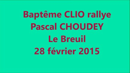 bapteme CLIO rallye avec Pascal CHOUDEY 28 fevrier 2015 au Breuil