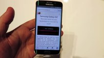 Démo du Samsung Galaxy S6 Edge