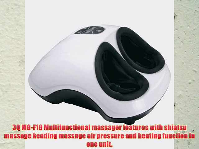 3Q MG-F18 Foot Massager with Heat Kneading Shiatsu Air pressure massage