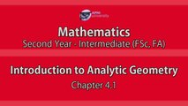 Introduction to Analytic Geometry - Introduction