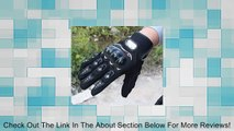 Amjimshop Useful Rock Black Short Sports Leather Motorcycle Motorbike Summer Gloves Review