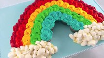 Cupcakes! Rainbow Cupcake Pull-Apart Cake! Make a Rainbow cake out of Mini Cupcakes!